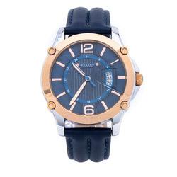 Đồng hồ nam mặt tròn quai dây màu xanh dương Julius Homme JAH-079