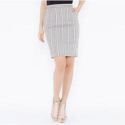 Chân váy ôm họa tiết sọc phối Leena 3VN03
