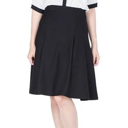 Chân váy chít ly cách điệu (2 lớp) màu đenLeena 1VN032-ĐE