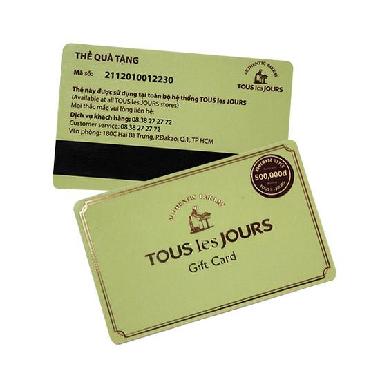 Tous les Jours Gift card mệnh giá 500.000đ