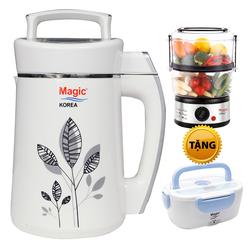 [MAGIC KOREA]Máy làm sữa đậu nành A68 (L)+ máy hấp điện + hộp cơm điện