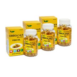 NatureGift-Bộ 3 hộp Omega 369(100v/hộp)tặng 1 Trà chanh mật ong(1Kg)CitronHoney+1 gói Kẹo sâm(200g)