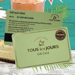 Tous les Jours Gift card mệnh giá 700.000đ