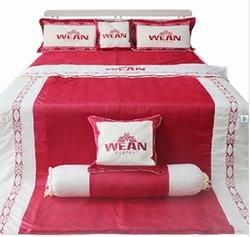 Bộ Drap Phủ Cotton Satin Nhung Vera 1,6mx2m + 1 Drap Ela 1.6mx2m + 1 bộ CHĂN DRAP + 1 gối nằm