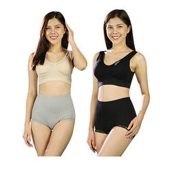 LaKa - Bộ tạo dáng thon gọn (4 quần lót gen + 4 áo ngực) tặng 2 quần Legging + 4 quần lót ren