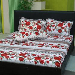Chăn Drap AIR WEAR BED Vườn Hồng New 1m8 ( Tặng 2 ruột gối nằm) - Live