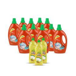 Bộ 10 chai nước giặt Forecare  Accti + 3 nước rửa chén Top Live (tặng 5 quà tặng)