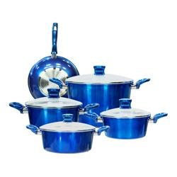[GN Ilo Gia Bảo]Bộ 4 nồi 1 chảo Ceramic bếp từ ILO Gia Bảo (xanh bóng)