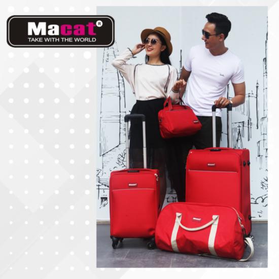 Macat Bộ vali túi xách du lịch 4 món