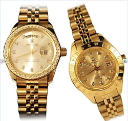 Đồng hồ cao cấp SWISS GUARD mạ vàng 24K cho Nữ + 1 bộ trang sức thời trang + 1 đồng hồ thể thao