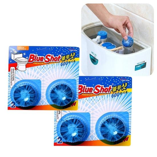 [BLUESHOT]_Bộ 8 vỉ vệ sinh bồn cầu +3 vỉ +2 khăn + 1 Thảm chùi chân + 3 Cuộn túi đựng rác