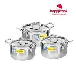 Bộ nồi Inox 1 đáy Happycook - HC06SRY