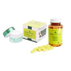 Combo Viên uống sáng da,cân bằng nội tiết tố nữ  + Kem dưỡng trắng da, chống lão hóa da mặt Maganda
