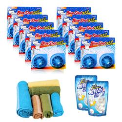 Bộ 20 viên vệ sinh bồn cầu Blueshot + 2 gói tẩy lồng giặt Home'sQueen + 6 khăn