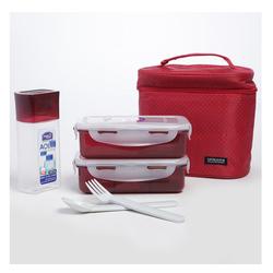 Bộ túi hộp cơm Lock&Lock + 6 ly + 1 muỗng + 1 nĩa
