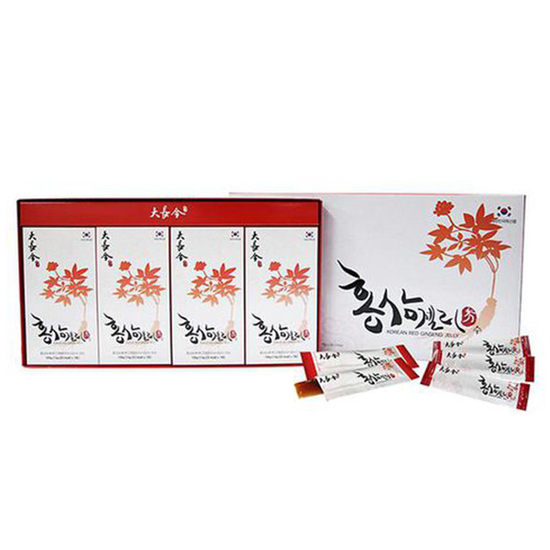 Daejanggeum_Bộ 08 hộp (7 thanh/hôp) Thạch hồng sâm +2 hộp trà hồng sâm+2 gói kẹo sâm (300gr/gói)