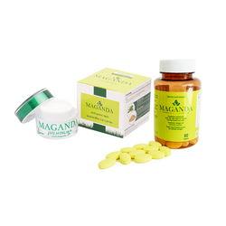 Combo Viên uống sáng da,cân bằng nội tiết tố nữ  + Kem dưỡng tái tạo da Maganda Anti Aging Skin