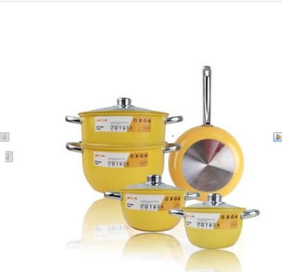 Goldsun : Bộ 3 nồi xửng inox 3 đáy + 1 chảo inox đáy từ GE32