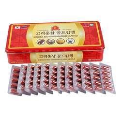 02 hộp viên hồng sâm đông trùng hạ thảo Korea Insam + 01 lốc nước yến + 02 trà gừng