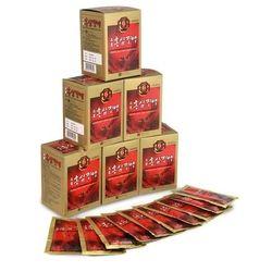 03 hộp (90 gói) Hồng sâm nước 6 năm tuổi Ginseng House + 10 chai collagen Chong Kun Dang 10000mg