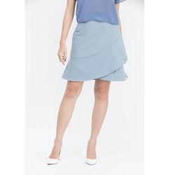 Chân váy chữ A Cocoxi bèo đắp chéo màu xanh 17VT071