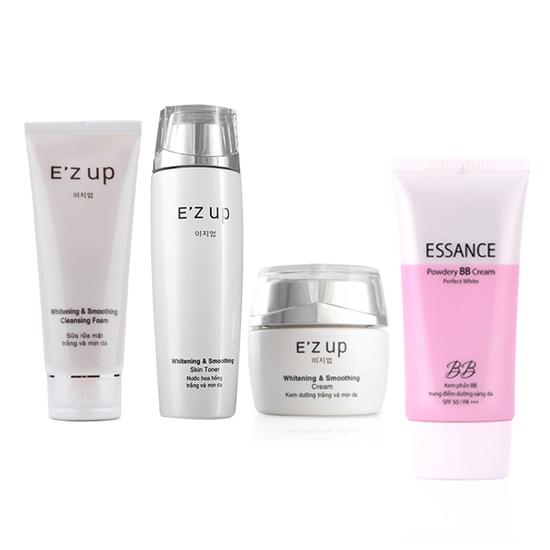Bộ sản phẩm dưỡng trắng toàn diện E'zup: 1 E'zup Toner + 1 E'zup cream + 1 E'up foam + 1 Essance BB cream
