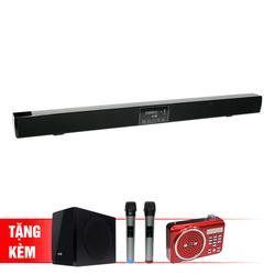 B] Soundbar Karaoke bluetooth SB928+ 2 micro không dây + 1 loa siêu trầm + 1 đài radio