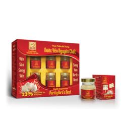 10 hộp Nước yến nguyên chất Song Yến+ 01 hộp nước yến Hồng Sâm  + 16 lon nước yến