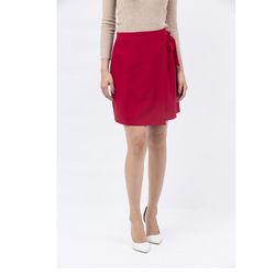 Chân váy Cocoxi đắp tà thắt nơ eo màu đỏ 17VT014