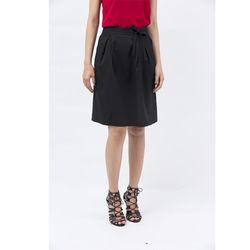 Chân váy Cocoxi đắp tà thắt nơ eo màu đen 17VT011