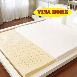 Nệm CSNT Vina Home (1m8*2m*9cm) + 3 Gối+ 1 Bộ Drap Không Mền + 01 Mùng Bảo Lộc 1.8m