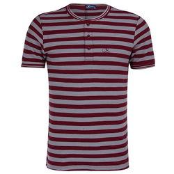 Áo T-shirt nam Kisetsu KI241706 màu đỏ/xám