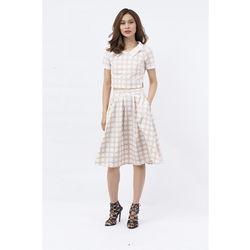 Set áo và chân váy Cocoxi màu be chấm bi trắng 17DB04