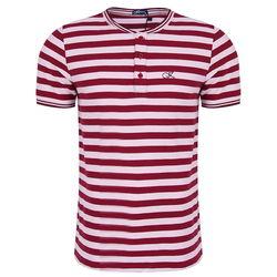 Áo T-shirt nam Kisetsu KI241706 màu đỏ/trắng