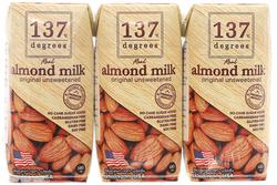 [GN]137 Degrees_18 hộp sữa hạnh nhân nguyên chất + 18 hộp sữa óc chó 180ml