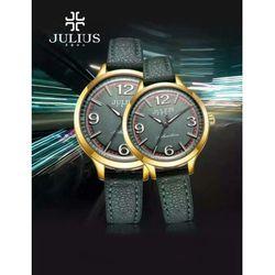 Đồng hồ cặp JULIUS Hàn Quốc dây da JU1181 (Xanh rêu đậm)
