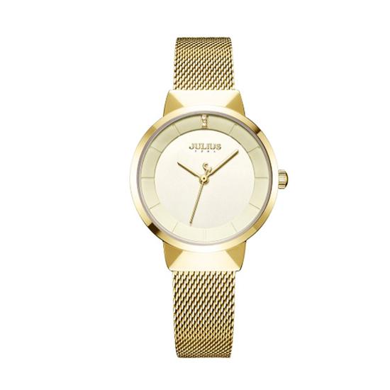 Đồng hồ nữ mạ vàng Julius-1104B