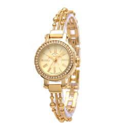 Đồng hồ nữ thép 3 sợi liên hoàn màu vàng JA-809