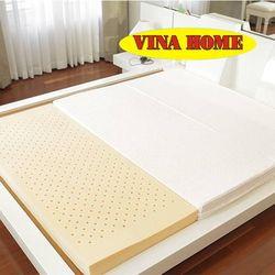Nệm cao su nhân tạo Vina Home (1m8*2m*9cm) + 3 gối + 1 bộ drap không mền