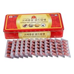 02 hộp viên hồng sâm đông trùng hạ thảo Korea Insam + 02 hộp trà gừng