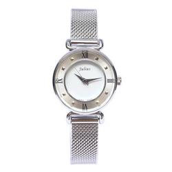 Đồng hồ nữ mặt đen dây min trắng Julius Homme JA-728