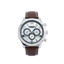 Đồng hồ nam Julius Hàn Quốc dây da JU1174 (Nâu mặt trắng)