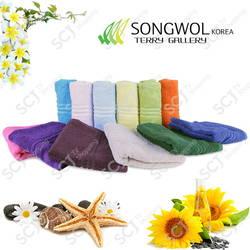 Bộ 12 khăn cao cấp Song wol Korea-(KM dép nhà tắm + khăn tắm lớn)