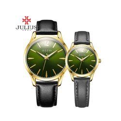 Đồng hồ cặp JULIUS Hàn Quốc chính hãng JU1207 (Đen mặt xanh)