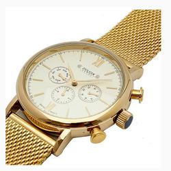Đồng hồ nam mạ vàng Julius JAH 090 tặng 1 Julius woman watch
