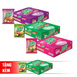 Nissin_3 thùng mì không chiên 365 (xí quách, lẩu thái, Miso) + 1 thùng mì Miso