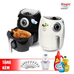 [MAGIC] Nồi chiên nướng không dầu cải tiến Magic Korea A84 4,4L+Máy xay thịt Magic +10 Muỗng inox