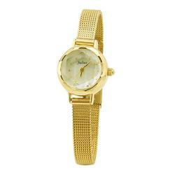 Đồng hồ nữ kim màu vàng mặt tròn đính đá Julius JA-482