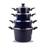 Bộ 4 nồi 1 chảo Ceramic bếp từ ILO Thịnh Vượng (Tặng 1 bếp gas đôi hồng ngoại mặt kiếng Rainy)