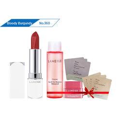 Son thỏi sắc nét Laneige Silk Intense Lipstick #360 Bloody Burgundy